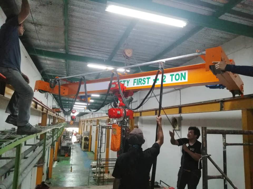 ทีมงาน KP Factory Crane เข้าติดตั้งงาน