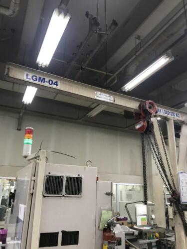 ตัวอย่างงานติดตั้งเครนโดย KP Factory Crane
